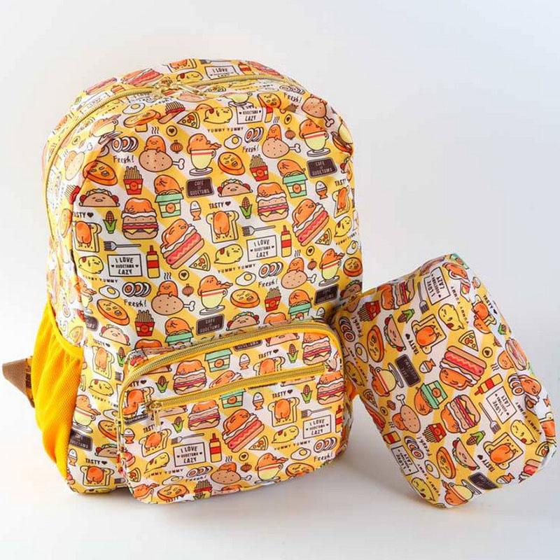 Japan Gudetama lazy egg Eggs jun Egg yolk brother large Double Children girl boy Casual Foldable bag(China (Mainland))