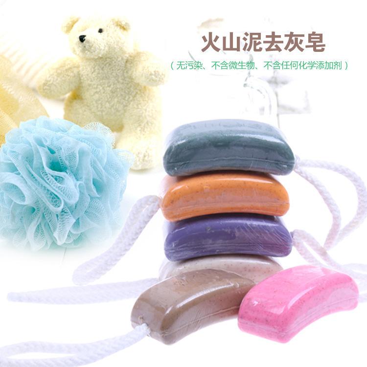 Mud to ashes soap exfoliating scrub rub mud soap(China (Mainland))