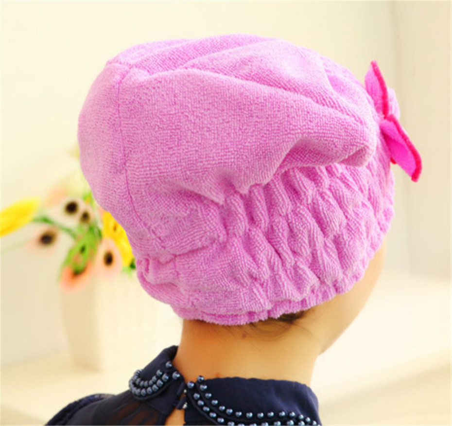 Useful Men Women Hair Quickly Dry Hat Microfiber Hair Turban Wrapped Towel Home Textile(China (Mainland))