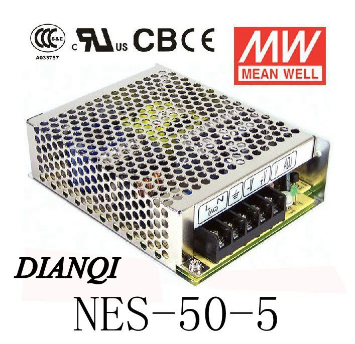 Original GOOD quality MEAN WELL power supply unit ac to dc power supply NES-50-5 50W 5V 10A MEANWELL(China (Mainland))