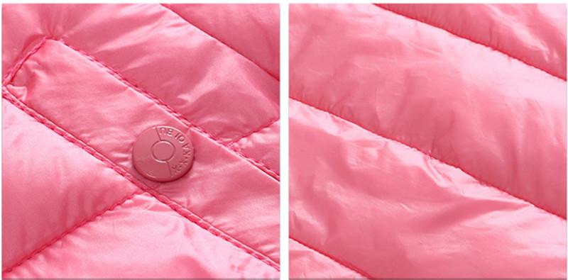 Скидки на Зимняя Куртка для Девочек Милые Дети Вниз Пальто с Карманом с капюшоном Зима Мальчики Белая Утка Вниз Пальто Дети Верхняя Одежда Жакет dj054