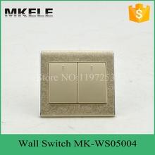 Pc материал 10A 250 В 2 переключатель банды 2 разъём(ов) тонкий современные настенный выключатель, умный дом сенсорный настенный выключатель для украшения дома