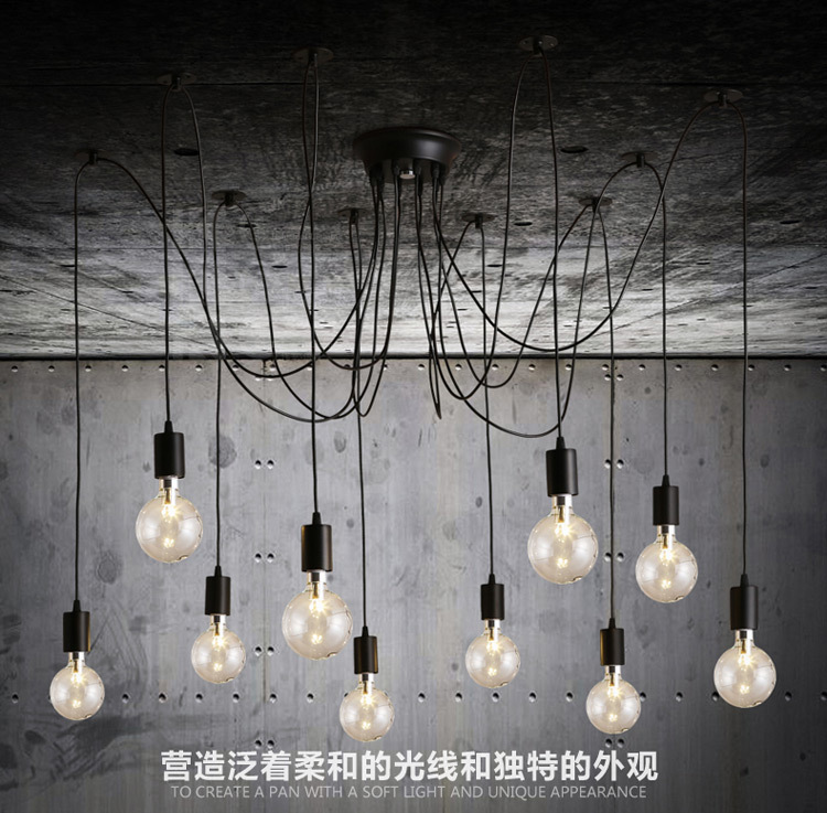 Creative LED Light Bulb Chandelier Lighting Simple Fashion Personality DIY La