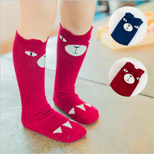 Новый топ мода 1 пара дети дети девушка колен-высокие фокс носки милые мультфильм ...
