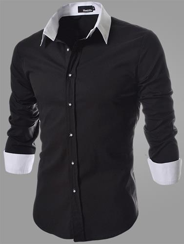 2016Hot Casual Slim Fit Men's Shirt men business shirt long-sleeve Turn-down Collar Stylish Dress Shirts Free Shipping(China (Mainland))
