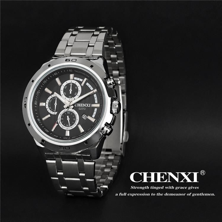 2015 Fashion Men Business Watch CHENXI Brand Quartz Watch Casual Stainless Steel Male Clock Wrist watches free shipping 009