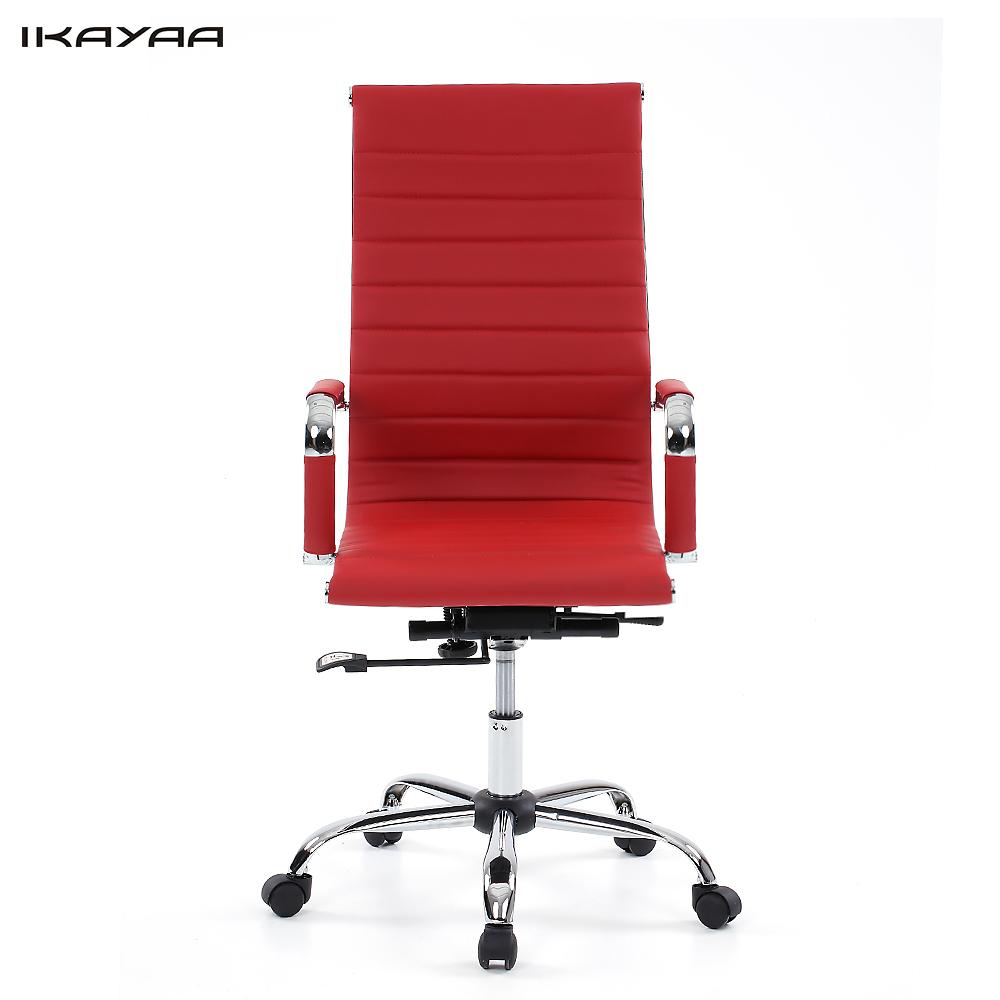 US Stock IKAYAA Luxury Dxracer PU Leather Office Executive Chair Stool Adjustable 360 Swivel Computer Chair Office Furniture(China (Mainland))