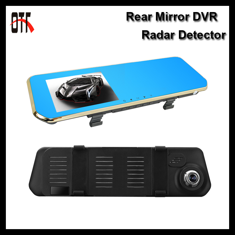 5.0 inch HD Rear view Mirror DVR Radar Detector 1080P Car Cameras Recorder Parking Monitor Dash Cam G-sensor Video Registrator(China (Mainland))