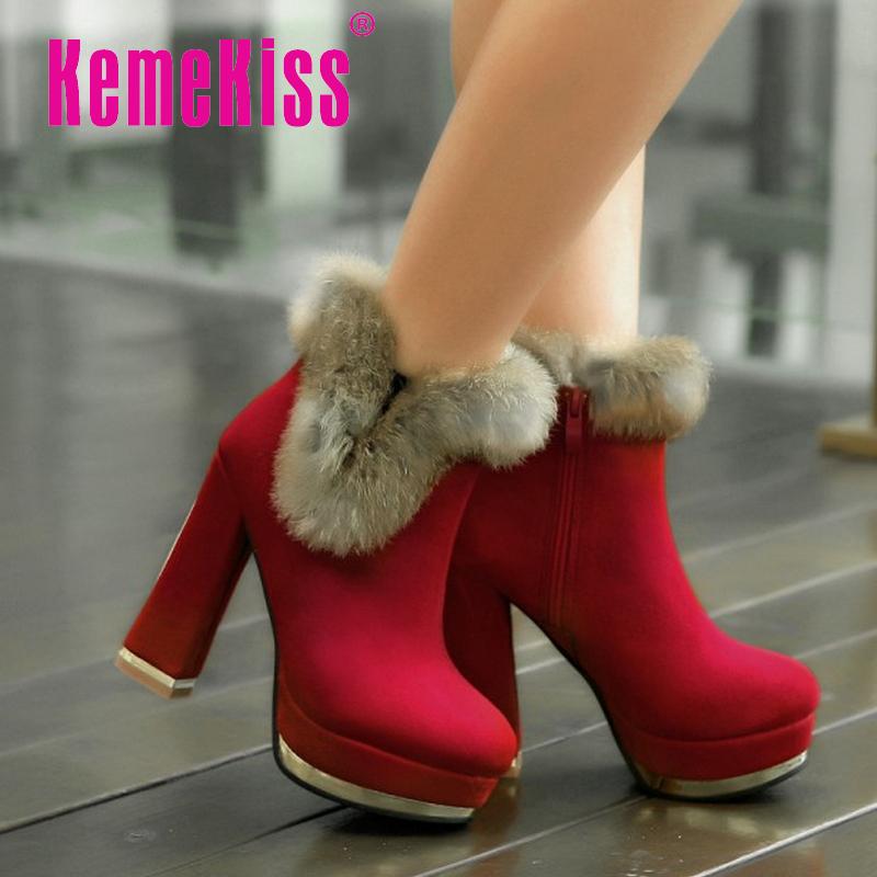 ladies high heel ankle boots women cotton half short botas warm winter boot weeding heels fur footwear shoes P20397 size 35-39<br><br>Aliexpress