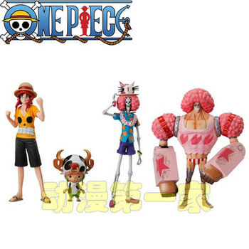 Free Shipping Anime POP One Piece Action Figures 18CM One Piece Film Z PVC Figure Toys Dolls set of 4 AOP040(China (Mainland))