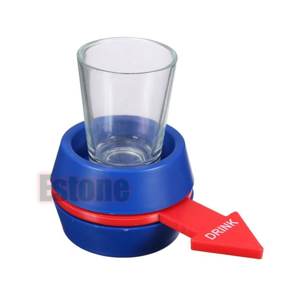 Newest 1PC Spinner Spin The Shot Glass Drinking Game Fun Party Gift New-Y103(China (Mainland))