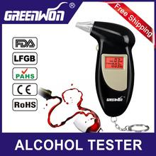 2015 NEW Hot! Professional Police Digital Breath Alcohol Tester Portable Breathalyzer Detector Dual LCD Display,Free Shipping(China (Mainland))