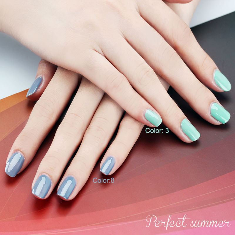Perfect Summer UV Gel Nail Polish Long Lasting LED Soak 8ml Classic Grey Series - Store store