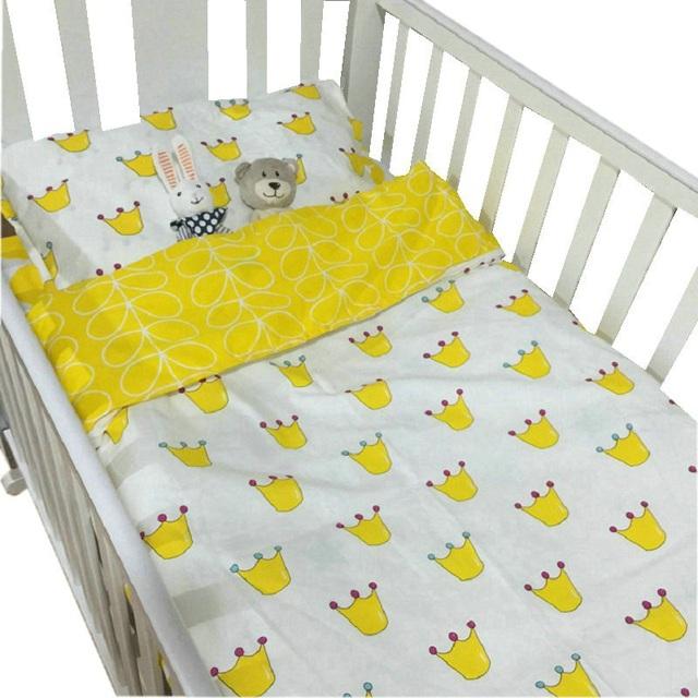 3шт/набор 100% хлопок комплект постельного детского белья 120*65см
