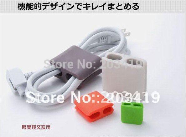 4pcs/pack size middle wrap cable wireclip yarn trapper earphone winder scattered wire Organizer for headphone MP3/4 CN post