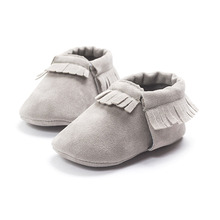 New Style PU Suede Leather Newborn Baby Boy Girl Fringe Soft Soled First Walkers Shoes Infant Toddler Moccasins Soft Moccs Shoes(China (Mainland))