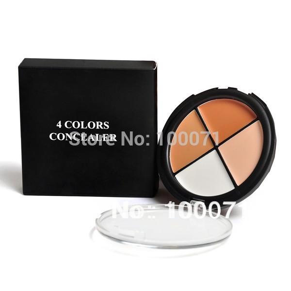 Pro 4 Color Cream Camo Quad Dark Makeup Facial Care Concealer Palette Skin Tones 3#22615(China (Mainland))