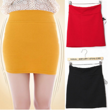 2014 Summer New Women Pencil Skirts Size S-L Fashion strech Girl Slim Mini one-step skirt solid color Free shipping candy color