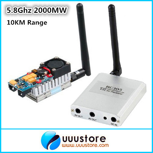 Boscam FPV 5.8G 5.8Ghz 2W 2000mW 8 Channels Wireless Audio Video Transmitter TS582000 Receiver RC305 RC Helicopter - UUUSTORE HD World store