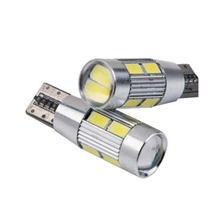 1 Pcs Car LED in wide light T10-5630-6 5730 SMD highlighting decode width modulation in license plate lamp reading lamp (China (Mainland))