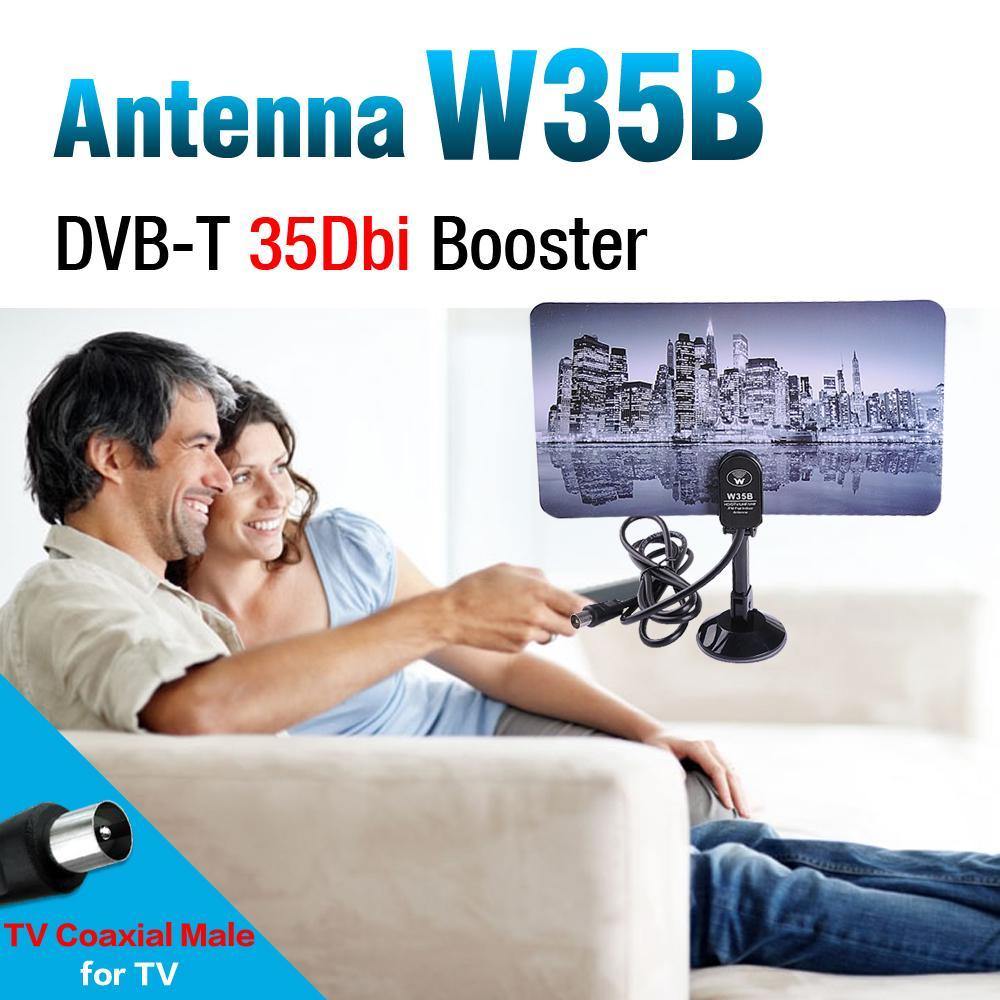 hdtv dtv hd vhf uhf flat design high gain 35db digital indoor tv antenna Digital Indoor Flat Design TV Antenna(China (Mainland))
