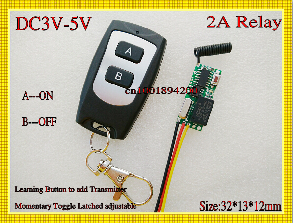 Дистанционный выключатель DC 3V 5 /3.7V TX 4.5V DC3V-5V Relay