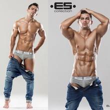Hot! Men ES Brand Trunk Best Selling Brand Men's Underwear Classic Shorts Top Quality Sexy Men Cuecas Boxer Underwear Men2pc/Lot(China (Mainland))