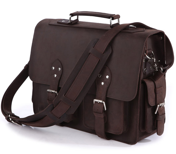 Vintage Crazy Horse Leather Men's Travel Bags Tote Duffel Bag Genuine Leather Luggage Bags Men Large Shoulder Bag Handbag Brown(China (Mainland))