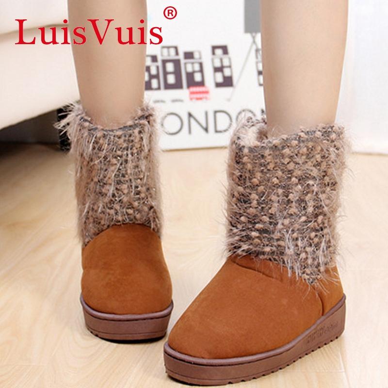 women platform half short ankle boots bohemia winter botas fashion quality cotton warm footwear boot shoes P19881 size 35-40