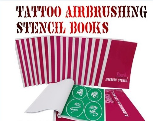 wholesale airbrush tattoo stencil design template total 24 books 2223 designs free shipping in. Black Bedroom Furniture Sets. Home Design Ideas