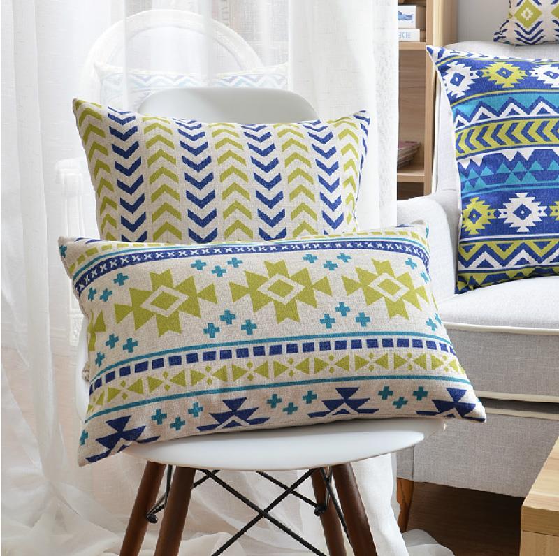 """18 """" praça linho almofada de algodão geométrica Ikea sofá cadeira carro casa decorativo jogar travesseiro fronha almofadas"""