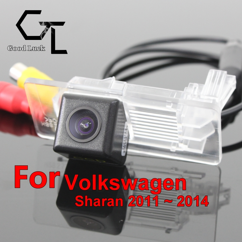 For Volkswagen VW Sharan 7N 2011 ~ 2014 wireless Car Reverse Backup CCD HD Night Vision Parking Assistance Rear View Camera(China (Mainland))