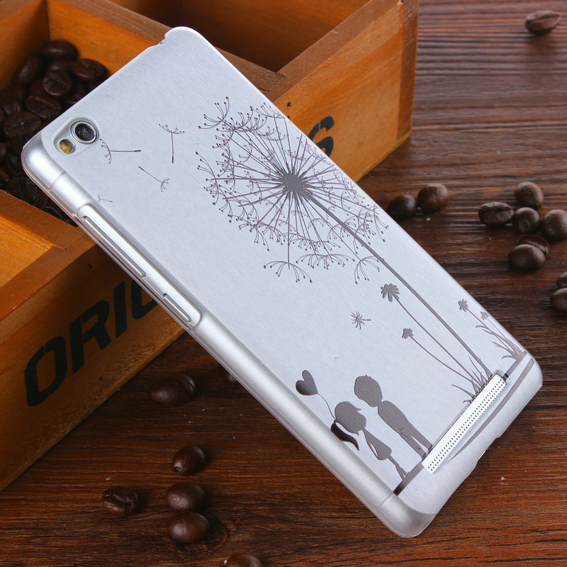Hot Sale Plastic Case for Xiaomi Redmi 3 Back Cover For Xiaomi Redmi 3 Lovers Dandelion Cartoon Pattern Mobile Phone Cases(China (Mainland))