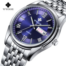 2016 New Luxury Brand Men's Date Day Quartz Watches Stainless Steel Relojes Luminous Clock Men Casual Watch Sports Wrist Watch