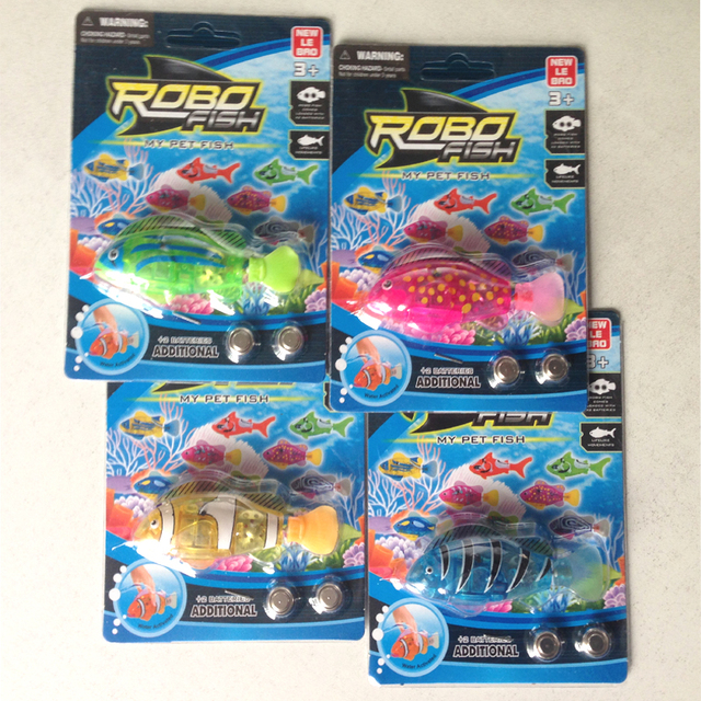 My Pet Fish Bath Toys Robo fish Activated Battery Fishing Toy Fish Robo LED Water Toys Environmental protection material