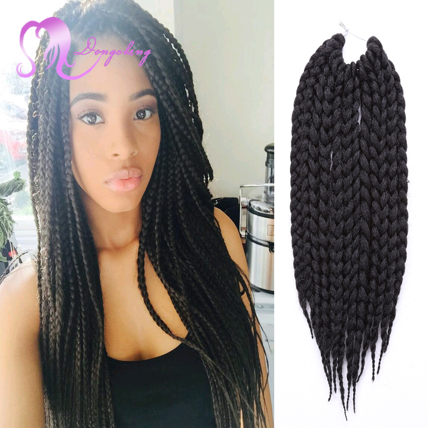 Freetress Crochet Box Braids Medium : 12 Box Braids Hair 80g/pack 3S Freetress Crochet Box Braid Syntheti...