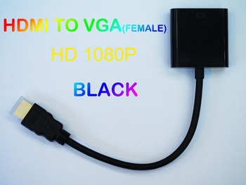 Free Shipping HDMI to VGA Adapter Converter Male To Female up to HD1080p