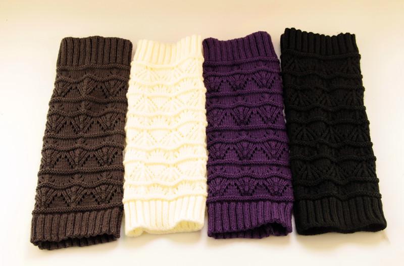 2015 новые девушки вязать бахилы выдолбите гетры носки твердых девушки бахилы топпер гетры белый / черный / фиолетовый / серый