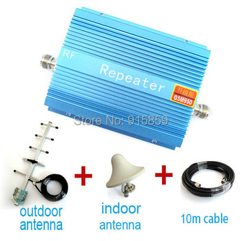 Direct Marketing GSM 950 GSM booster 900Mhz 500square signal booster repeater+cable +indoor antenna+ outdoor antenna 1set