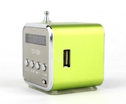 1pc TD-V26 Portable Mini Digital Speaker support TF card and U disk with FM music player Portable audio player(China (Mainland))