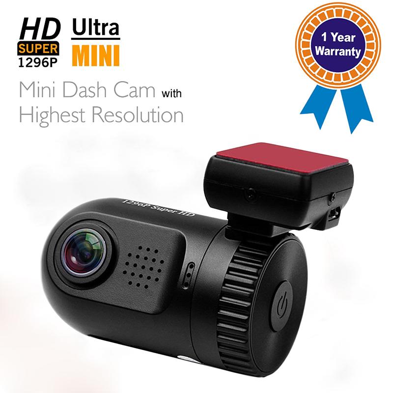 Hot Sale Mini 0805 Car DVR Dash Cam Ambarella A7LA50 Chip Super Hd 1296p Car Video Recorder Camera Mini Cam without GPS Logger(China (Mainland))