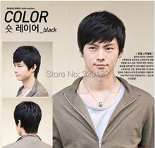 Men's fashion male wig short hair black wig Men Male Cos Cosplay Hair wigs Free Shipping