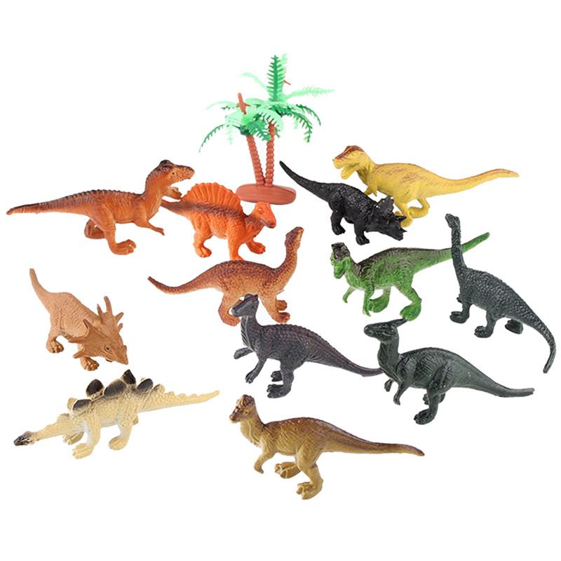 12pcs/lot Dinosaur Toy Set Plastic Jurassic Park World Play Toys Dinosaur Model Action & Figures Best Gift for Boys(China (Mainland))