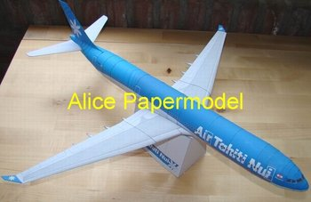 [Alice papermodel] Long 85CM 1:87 ho scale  Airbus A340 airliner airplane models