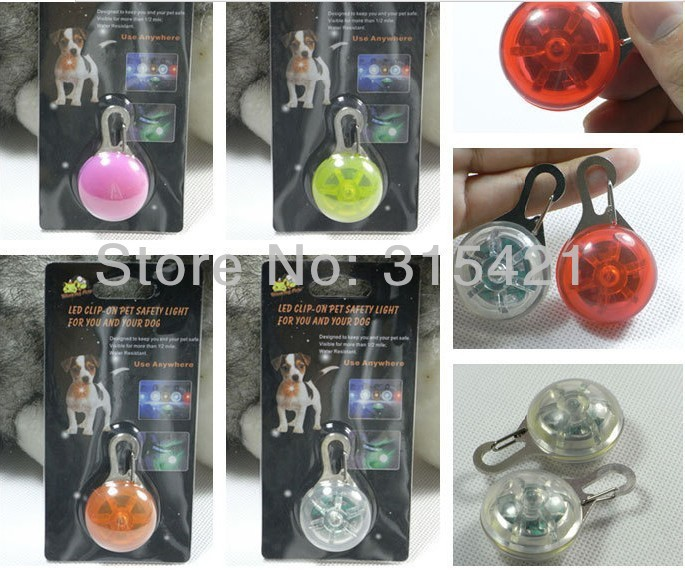 100Pcs/lot Pet Dog Cat Flasher Blinker LED Light Tag Safety Pendant Collar Keychain Pendant P105(China (Mainland))