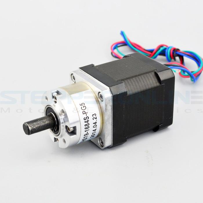 Gear ratio 5 1 planetary gearbox stepper motor nema 17 1 for Stepper motor buy online