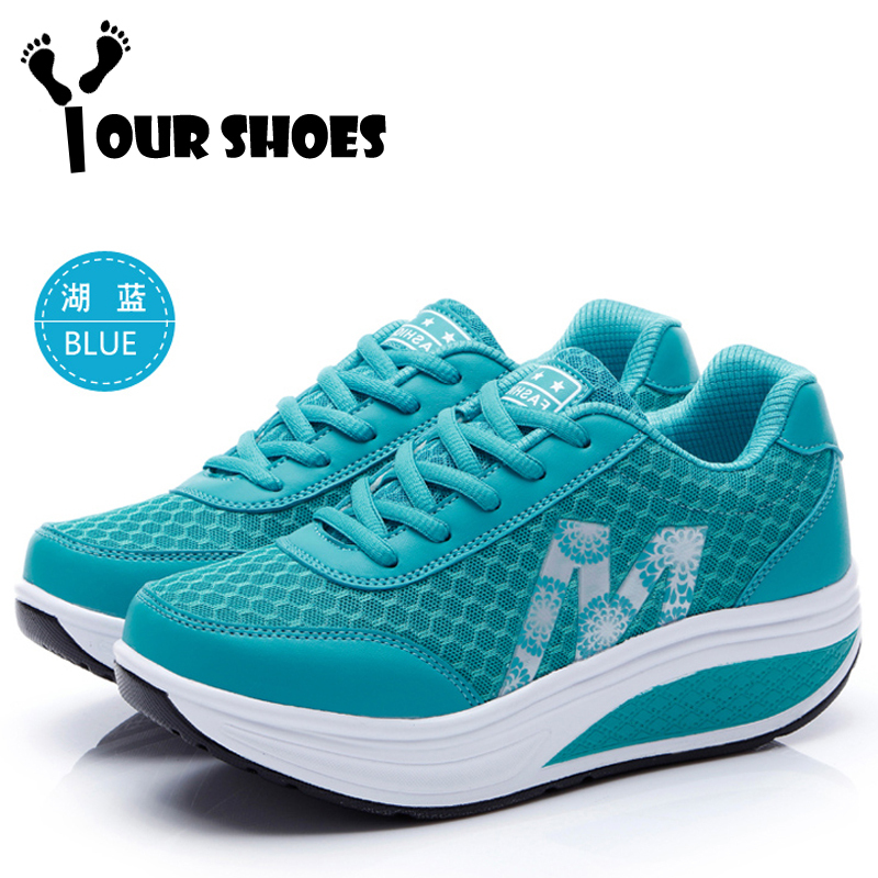 {Your Shoes} 0003New Arrival!!! Shake shoes female breathable sneakers toning shoes women shoes at all seasons(China (Mainland))