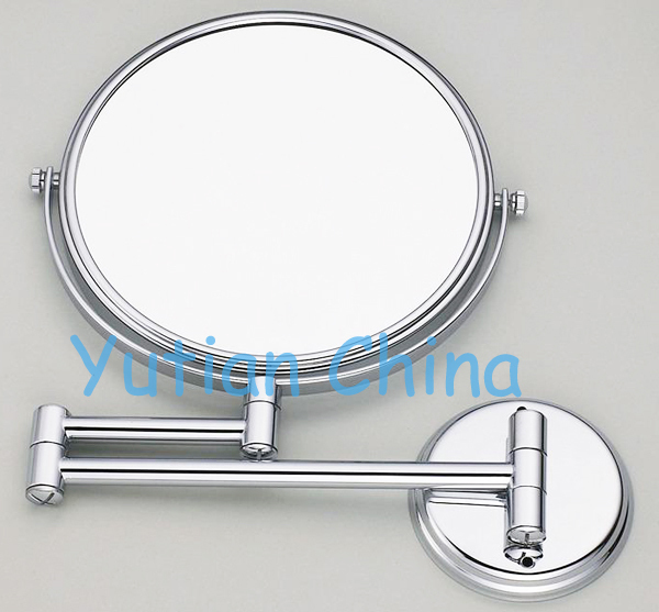 "Free Shipping 8"" dual Makeup mirror 1:1 and 1:3 magnifier Copper Cosmetic Bathroom Double Faced Bath Mirror,YT-9102-A(China (Mainland))"