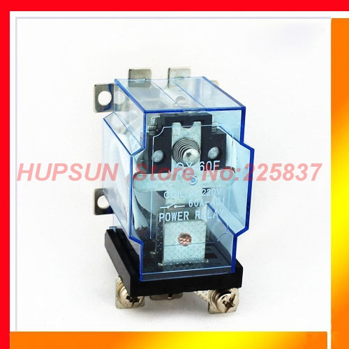 Free shipping JQX-60F relay 1Z 60A 220vac ac 220v coil screw mount terminal power relay(China (Mainland))