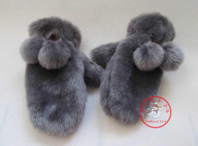 2015 новой россии зима теплая искусственного меха перчатки для женщин перчатки с шариками самка меховые варежки женские перчатки тепловой открытый